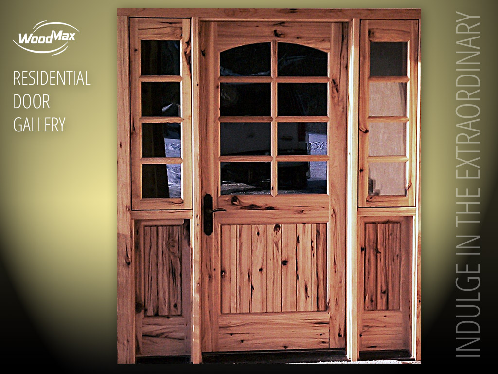 Hickory Doors Wood 1024 Hickory Arched Top Door With 4 Panel Design