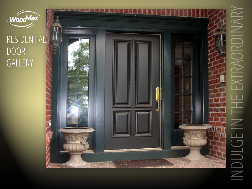 1024: Paint Grade Entry With 4 Raised Panel Door Design And Full View, 10  Lite SDL Sidelights